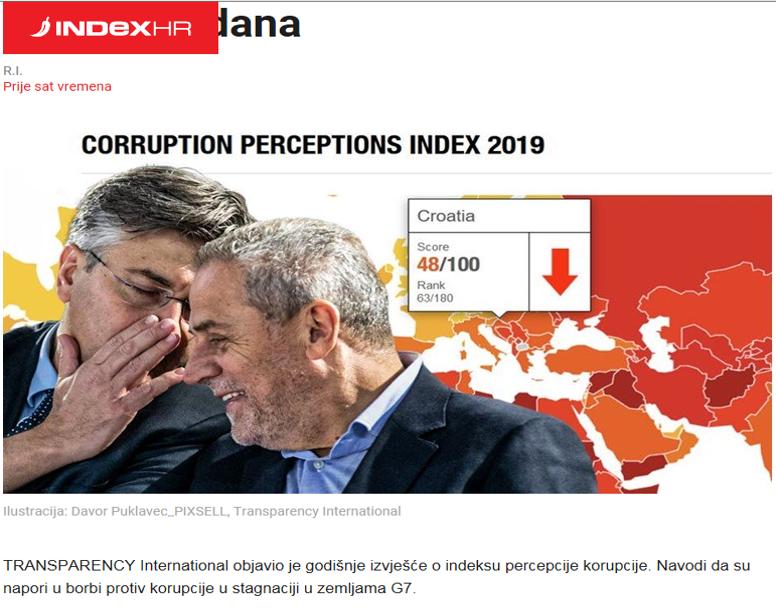 Publishing false data for Croatia on the internet site - Explanation and apology sought urgently